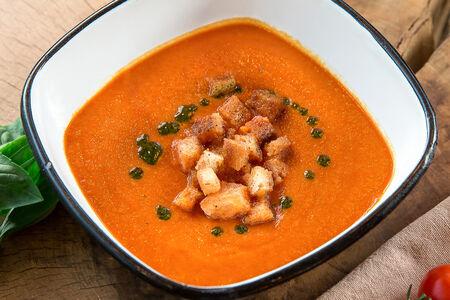 Постный Весенний томатный суп с сухариками
