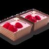 Фото к позиции меню Пирожное Клубника со сливками