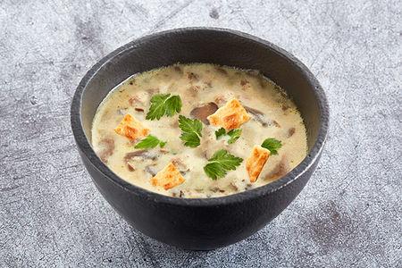 Суп грибной с чипами двойная порция