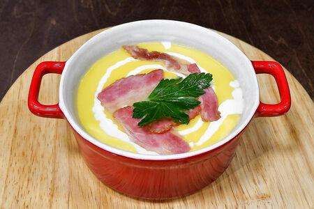 Суп-крем сырный с беконом