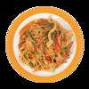Фото к позиции меню Китайская лапша пшеничная с курицей