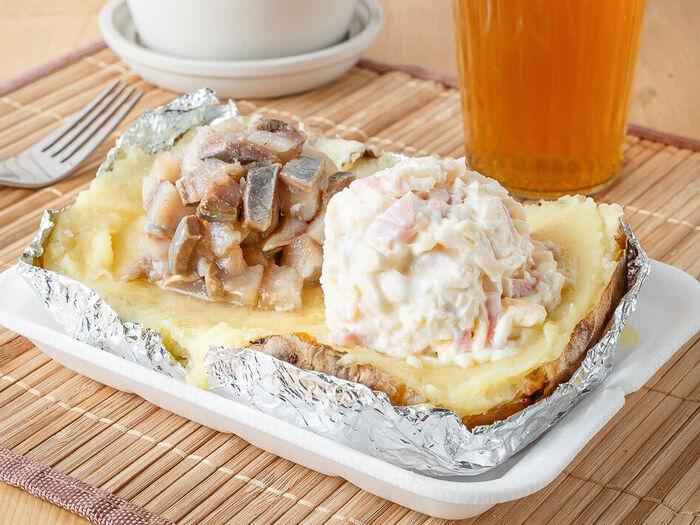Картофель сырный с маслом