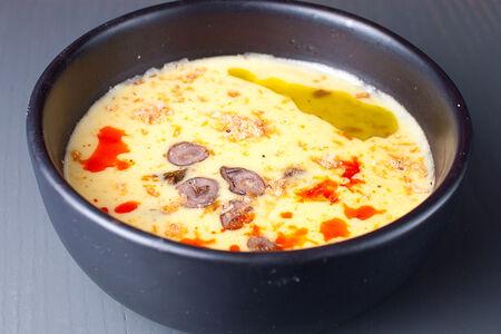 Крем-суп Кукурузный с куриными сердечками