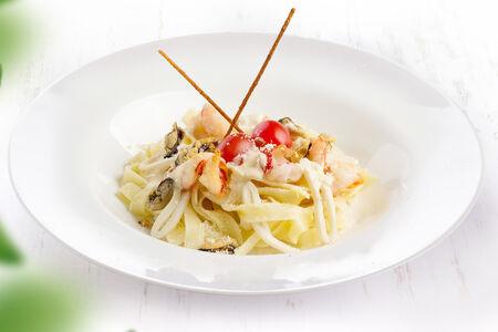 Паста сливочная с морепродуктами