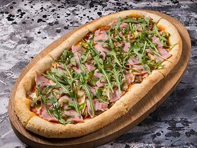 Пицца с тамбовским окороком