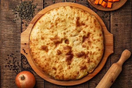 Осетинский пирог с тыквой Насджын