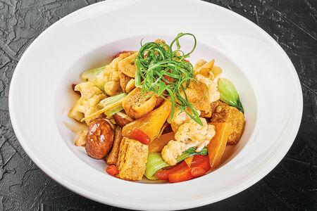 Вок Воздушный жареный тофу с овощами