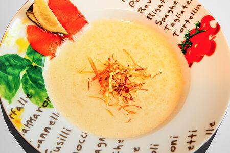 Крем суп из лосося спайси