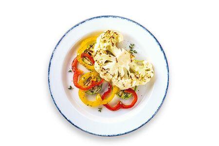 Веган стейк с овощами гриль