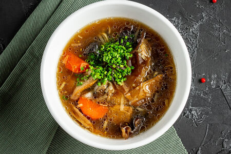 Суп из боровиков с топленой сметаной
