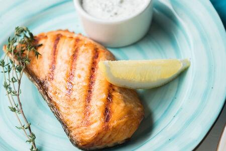 Стейк из филе лосося