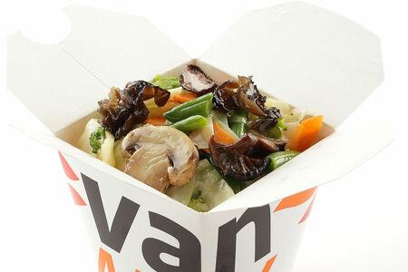 Вок овощная смесь с древесными грибами и шиитаке в соусе Жаркая Азия