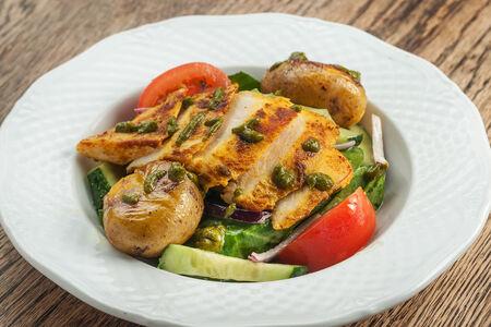 Салат с филе цыпленка