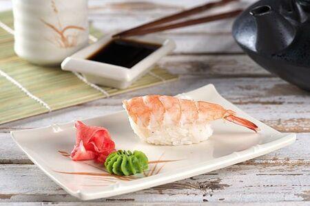 Суши с креветкой/ васаби/ имбирь/ соевый соус