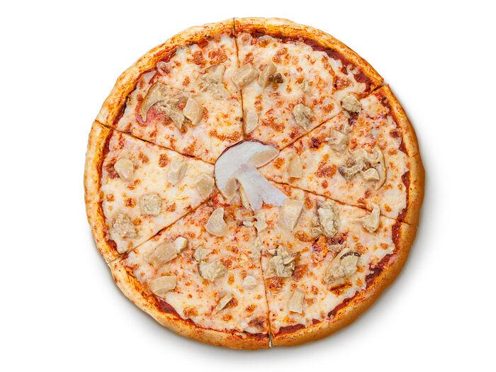 Пицца Маргарита с белыми грибами