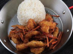 Филе рыбы в кисло-сладком соусе
