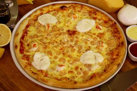 Пицца с коктейльными креветками