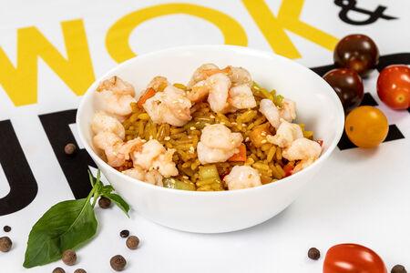 Рис с креветками в соусе