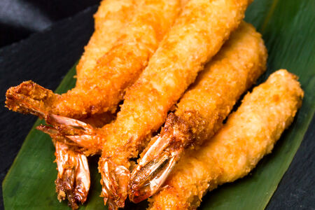 Жареные креветки в темпуре