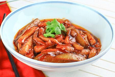 Баклажаны в сладко-остром соусе