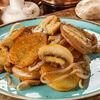 Фото к позиции меню Жареный картофель с грибами