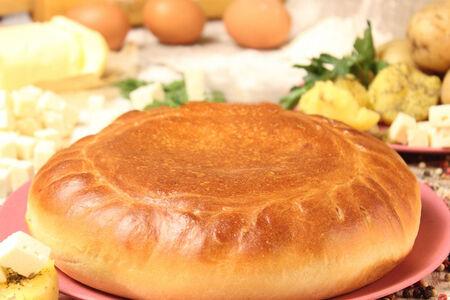 Пирог картофельный с брынзой
