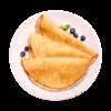 Фото к позиции меню Блины гречневые на меду