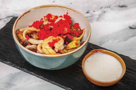 Гриль-салат с морепродуктами
