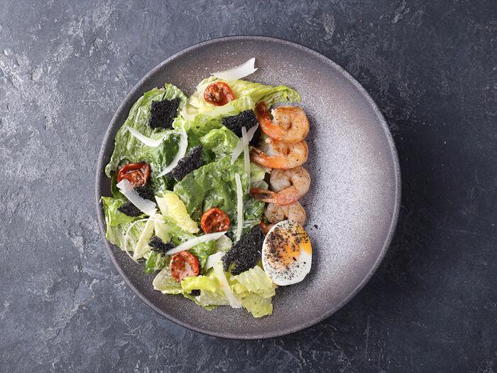 Салат BQ Цезарь с креветками