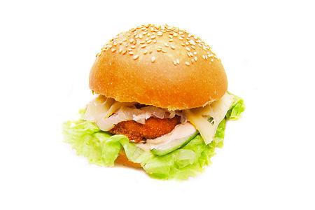 Бургер цыпленок барбекю