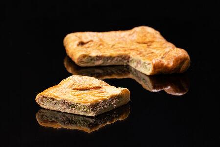Пирог с горбушей и брокколи
