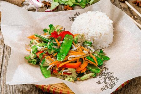 Овощной Вок с рисом