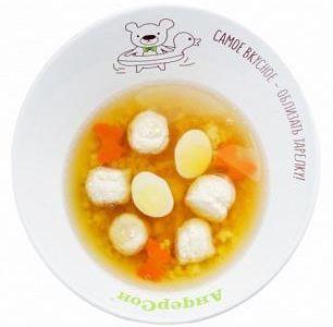 Суп с фрикадельками и колечками