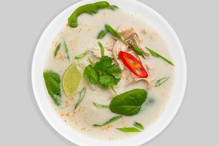 Тайский суп с курицей