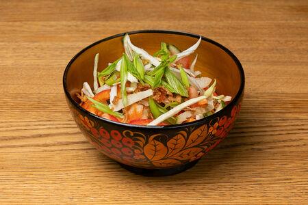 Салат Овощной с заправкой из сметаны