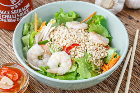 Салат по-Вьетнамски  с креветками