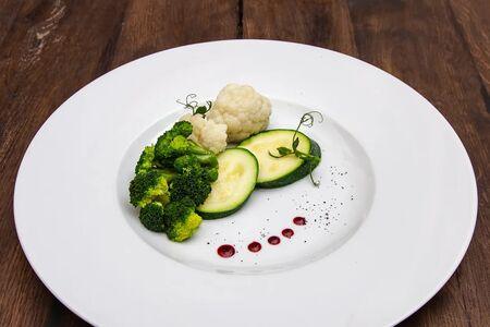 Цветная капуста, брокколи и цукини на пару