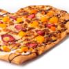 Фото к позиции меню Пицца Сердце с клубникой и персиком