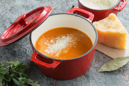 Суп-пюре из копченых томатов