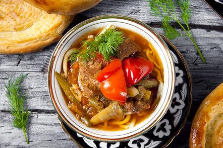 Суп Лагман по-уйгурски