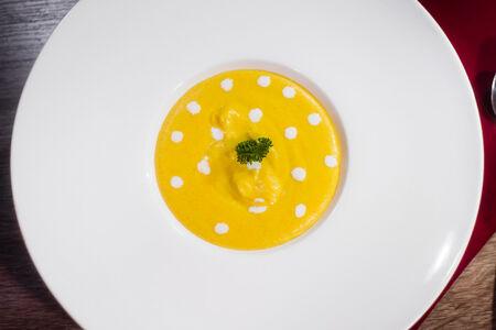 Сырный крем-суп с мускатом