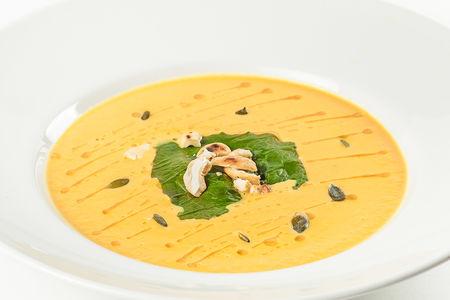 Суп пюре из тыквы с креветками