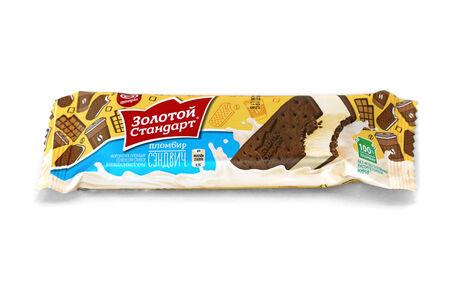 Мороженое Золотой стандарт Сэндвич