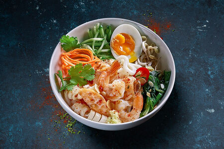Лапша Чили Удон с морепродуктами