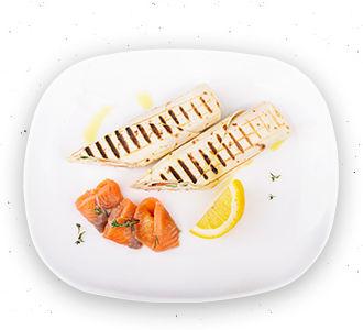Ролл пшеничный с лососем