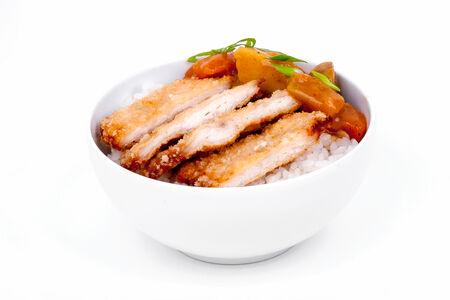 Курица кацу карри с рисом