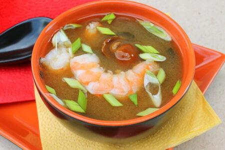Суп Мисо с тигровой креветкой