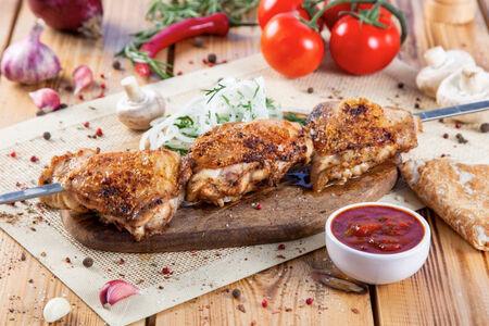 Шашлык из курицы (бедро)