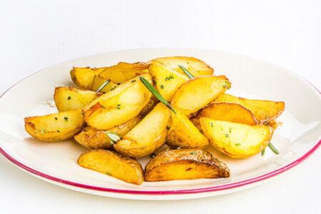 Запеченный картофель с ароматным маслом укропа