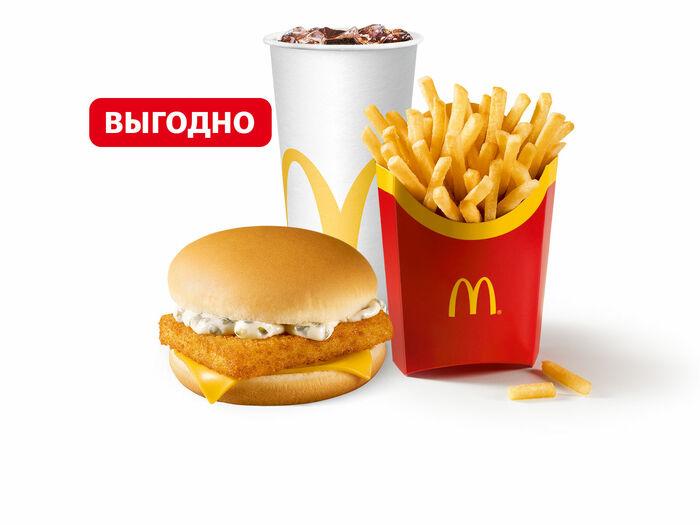 Филе-о-Фиш МакКомбо Большой